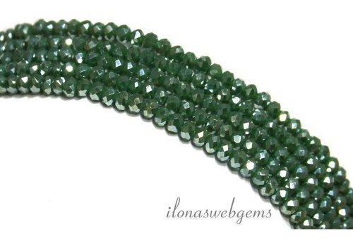 Swarovski style crystal beads app. 3x2mm
