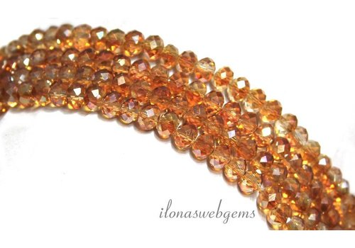 Swarovski crystal style beads around 4.5x3mm