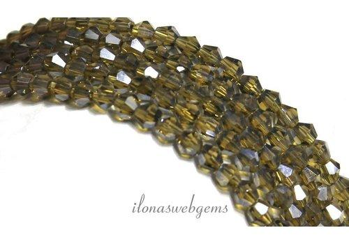 Swarovski style crystal beads app. 4x4mm