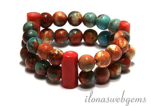 Inspiratie koraal armband
