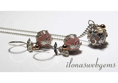Inspiration flexible silver beads caps