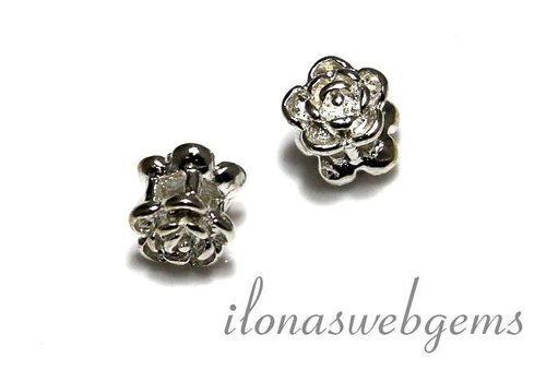 1 Sterling silver flower spacer app. 7mm