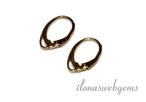 1 pair of ear hooks Vermeil