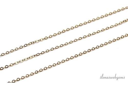 1 cm Gold filled Kettenglieder / Ketten ca. 1.5mm