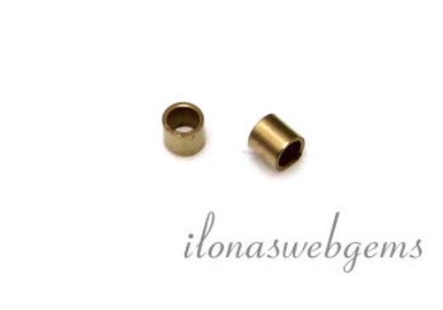 14k / 20 Gold, das gefüllte Perlen 2x2mm Rohr ca. Crimp