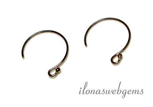 1 pair of Gold filled earhooks around 14x12mm