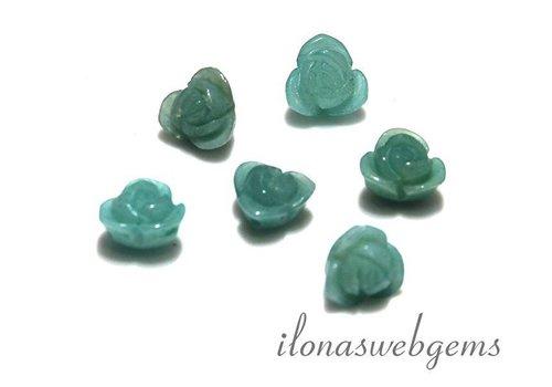6 pieces gemstone rose Amazonite