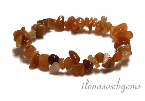 Red Aventurine split beaded bracelet approx 7mm