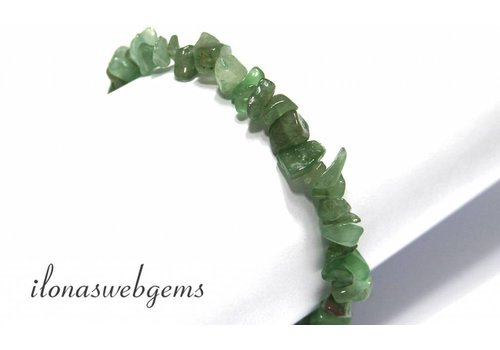 Aventurine split beaded bracelet approx 7.5mm