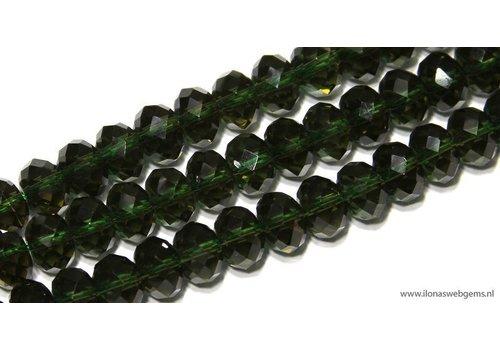 1 stück Hydro Quarzt Facetten  Perle Rondell ca. 9x6mm