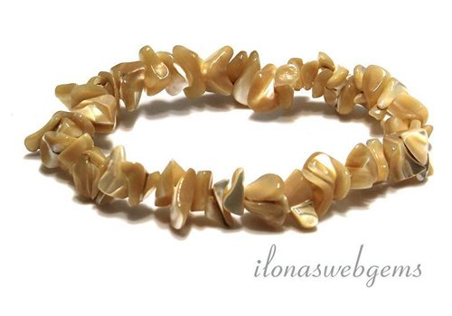 Mother of pearl split beads bracelet app. 10-12mm