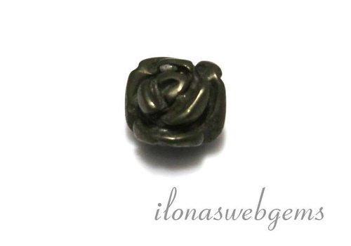 1 edelsteen roosje Pyriet ca. 10x8mm