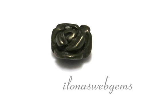 1 gemstone rose Pyriet app. 10x8mm