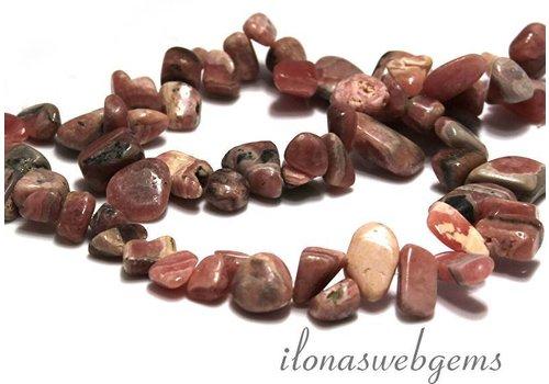 Rhodochrosiet beads app. 10-18x5mm
