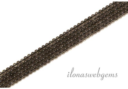 Rookkwarts kralen rond mini ca. 2mm
