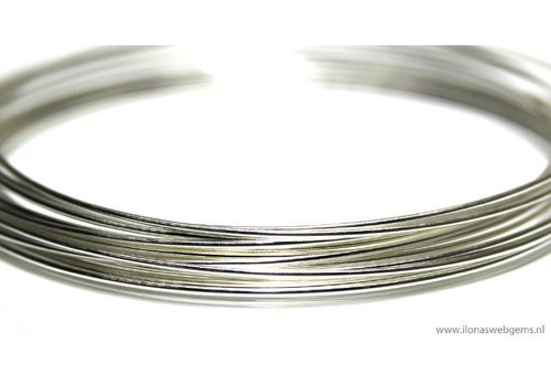1cm sterling zilverdraad half hard 1mm / 18GA