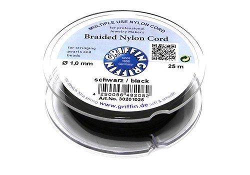 Griffin nylon koord schwarz 1mm