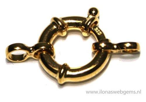 Vermeil spring ring / boeislot approx. 13.5mm