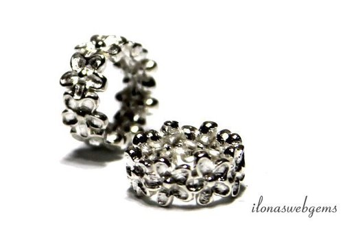 Sterling silver spacer flowers approx. 7x4mm