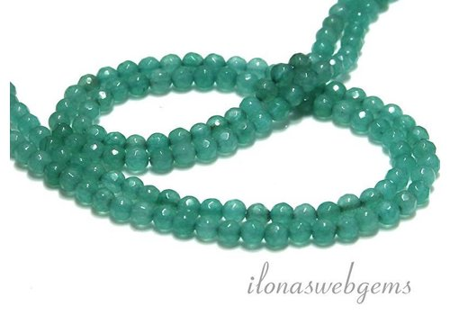 Jade kralen facet rond ca. 4.5mm