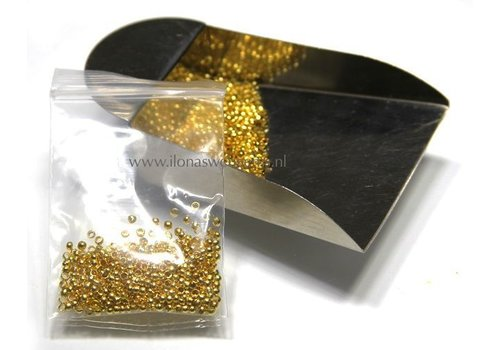 Knijpbeads round goldcolor app. 1.5mm (Ve49)