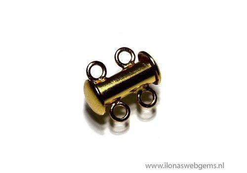 Vermeil Verschluss 2 reihig ca. 13x11mm