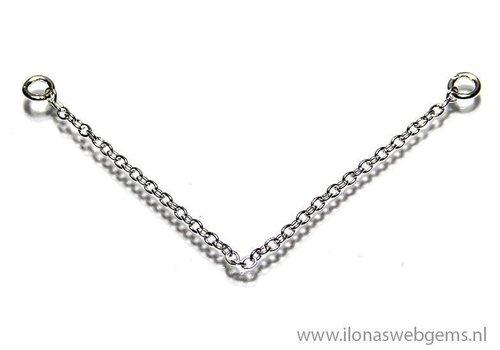 925/000 Silber Sicherheitskette ca. 5 cm