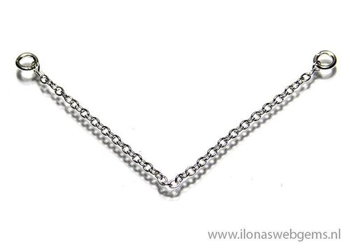 Sterling silver safety chain approx 5cm (Zi20-6)