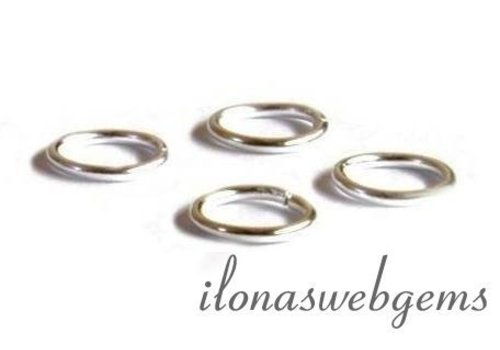 20 pcs sterling silver eye closed approx. 5x0.8mm