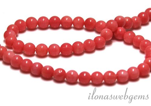Coral beads rose app. 5.5 mm