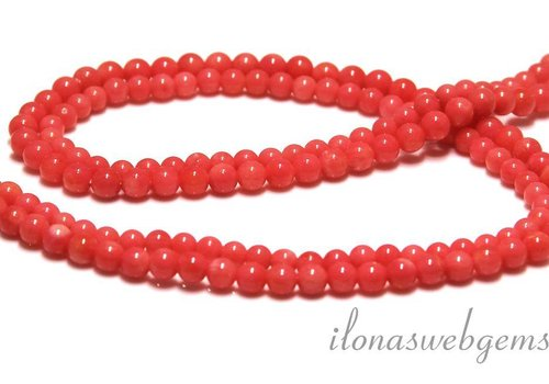 Coral beads pink approx 4.5mm
