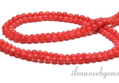 Coral Perlen rosa ca. 4.5mm