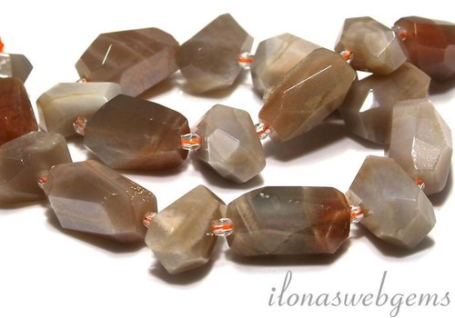 Moonstone beads free size approx 20-23x11-15mm