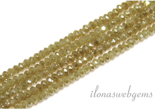 Swarovski style crystal faceted roundel beads app. 3x2mm (HA8)