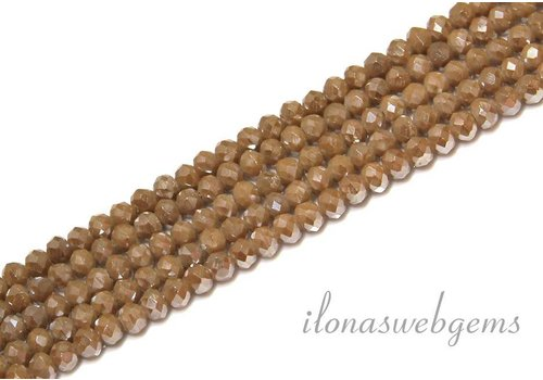 Swarovski style crystal faceted roundel beads approx 4.5x3.5mm (Ha33)