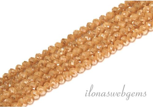 Swarovski style crystal faceted roundel beads approx 4.5x3.5mm (Ha34)