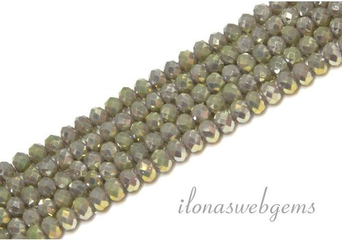 Swarovski style crystal faceted roundel beads approx 4.5x3.5mm (Ha36)