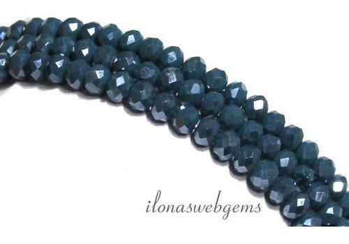 Swarovski style crystal beads 4.5x3.5mm