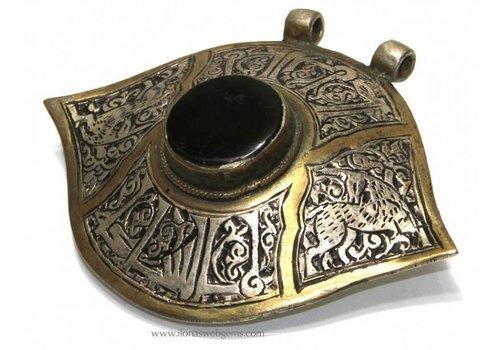 Afghan Silber Anhänger mit Onyx