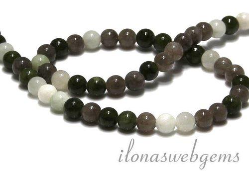 Jade beads round app. 6.5mm