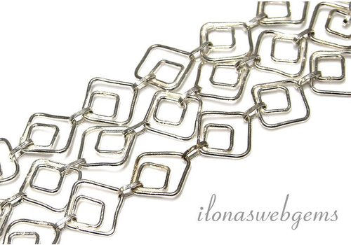 15cm chain / links silvered
