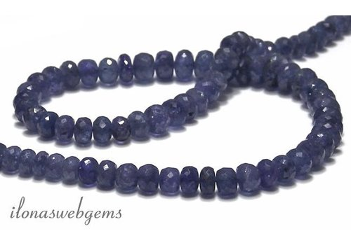 13 steps Tanzanite bead approx 7-8x3.5-5mm