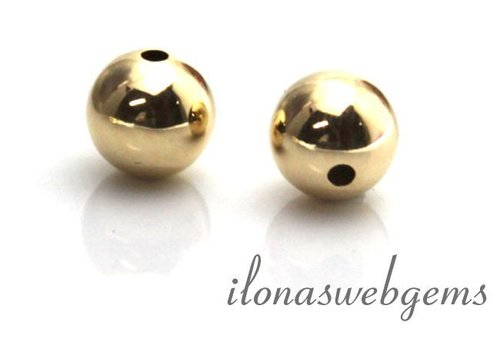 14 carat gold bead 8mm light