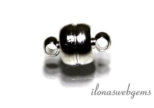Silvered magnetic clasp approx 11x7mm