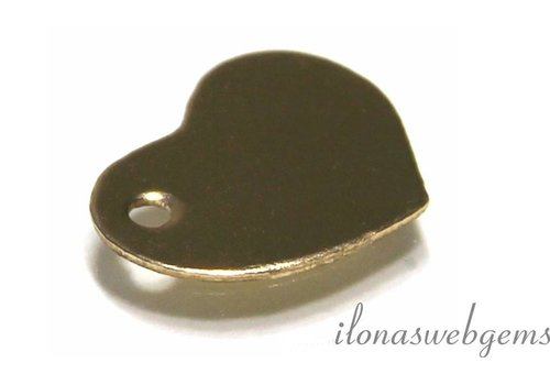 Gold. gefüllt Mini Schmuck Anhänger Herz
