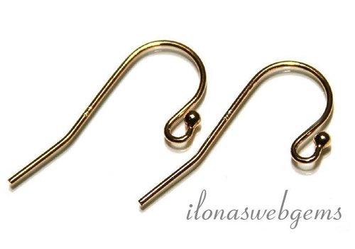 1 pair of Vermeil earring hooks approx. 25x12mm
