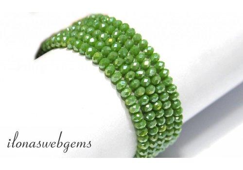 Swarovski style crystal beads app. 4x3mm