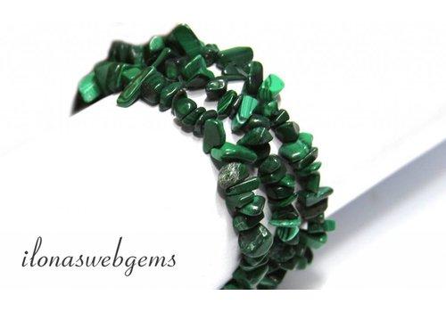 Malachiete beads split approximately 7mm