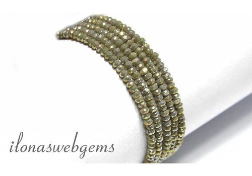 Swarovski style crystal faceted roundel beads app. 3x2mm