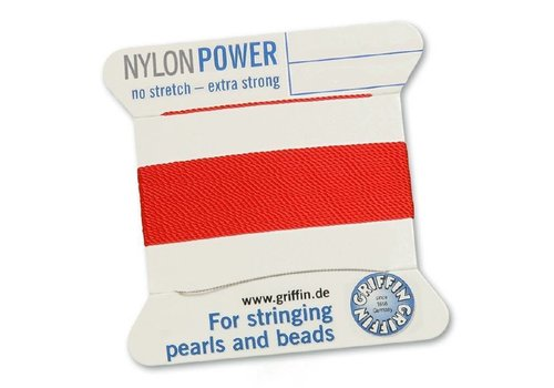 Red: Griffin nylon beading thread
